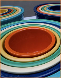 vintage fiestaware pottery nesting mixing bowls for sale - Fiestaware Sale
